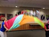 Stuffed Animal Parachute Fun