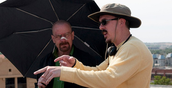 Vince Gilligan & Bryan Cranston on set for Breaking Bad