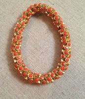 Vintage Twist Bracelet in Coral $19.50