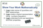 Math Practice Classroom Posters
