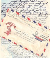 Letters received from the U.S. from friends and loved ones.