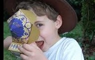 Youngsters love Chocolate Frogs!
