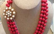 La Coco Rope Necklace - Coral & Paradise Brooch