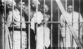 Gandhi in jail