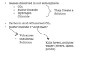 Acid Rain and Global Warming