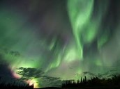 Famous Northern Lights in Alberta, Canada