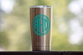 Monogrammed Yeti tumbler by the fab Kristy Pauly!!!