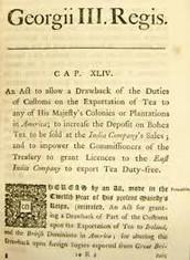Summary of The Tea Acts