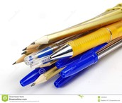 pens and pencils $.25