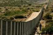 The Mexico US border