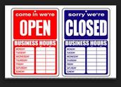 Abre a las 8: 45 y cierra a las 10:30