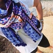 Capri Wrap Scarf-Moroccan Tile $20 (retail $59)