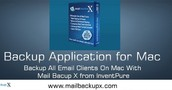Backup Mac Mail Email Database with Mail Backup X by InventPure