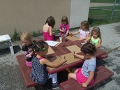 Room 3 makes signs for the playground