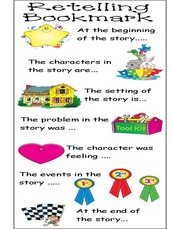 Tips for Retelling a story or reading passage.