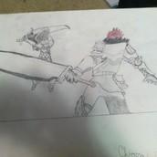 A picture of a Fantasy fight scene