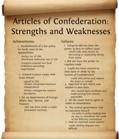 Articles of Confederation: Strengths and Weaknesses
