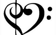 Treble/Bass Clef Heart