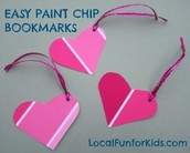 Paint Chip Decoration / Card / Book Mark