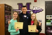 Morrow and Cole Receive Volleyball Academic All-State