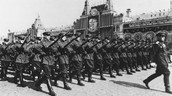 TROOPS MARCHING IN-FRONT OF THE KREMLIN