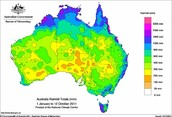 The rainfall in Australia
