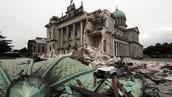 Aardbevingen in de stad Christchurch