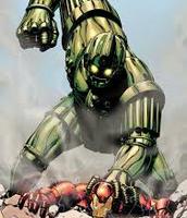 Big green guy is titanium man