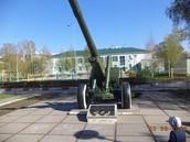 Зенитное орудие на Бульваре Героев