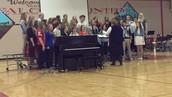 Connie Leonhard's Choir Performs.