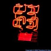 3D Hilbert Fractal In Neon