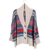 lana blanco rojo y azul chaqueta
