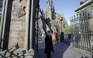 Вход в замок Хогвартс в «Волшебном мире Гарри Поттера».