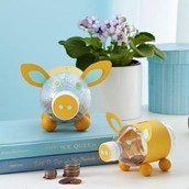 The first craft we will discus is a, water bottle piggie bank!