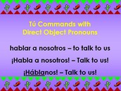 Commands Forms with Direct Object Pronouns