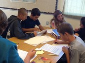Science classes hard at work!