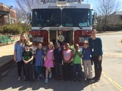 Sunshine Kids and the FIre Truck