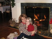 My mom and me on Christmas Eve