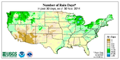 Number of Rain Days