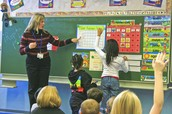 A full immersion class in Spanish at Mannheim Elementary School, taught by Angelica Jordan