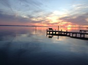 Sunset on Pamlico River