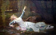 Ophelia in the River