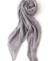 Grey Metallic Scarf
