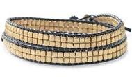 Gold Nugget Wrap bracelet