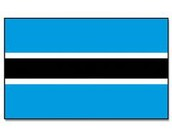 the flag of botswana