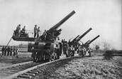 مدفعية استخدمت في الحرب العالمية الاولى
