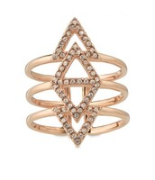 Pave Spear Ring Rose Gold