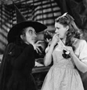 The wicked witch and Dorothy