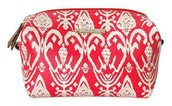 Red Ikat Pouf