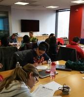 Teachers brainstorming together